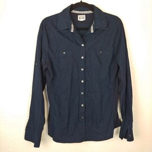 Converse All Star Navy Blue Button Down Shirt